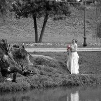 Рыбак, невеста и фотограф. :: Вера