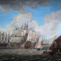 Адам Сило (1674-1760). Голландский военный флот, покидающий порт, первая половина  18 века :: halloART.ru Изобразительное искусство