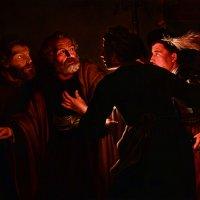 Герард Зегерс (1591-1651). Отречение святого Петра, первая половина  17 века. :: halloART.ru Изобразительное искусство