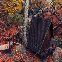 Домик и лесенки у водопада Джур-Джур в Крыму :: Алексей Латыш