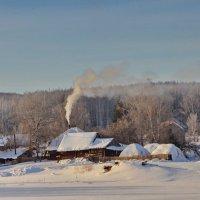 Морозное утро в таежном поселке :: Галина