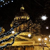 Петербург новогодний. Звёзды Исаакия :: Марина Колядина