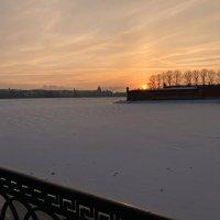 Январский закат :: Марина Колядина
