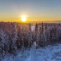 Закат на лыжной базе :: Алексей Сметкин
