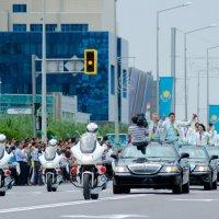Астана встречает олимпийцев :: Азамат Турешев