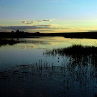 Закат на озере :: Руслан Хайдаров