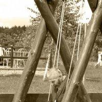 На качелях в парке :: Виктория Заикина