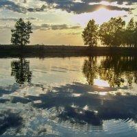 Закат на Лебяжьем озере :: Ирина Приходько