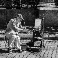 Виртуоз с пилой (серия Уличные музыканты) :: Valerii Ivanov