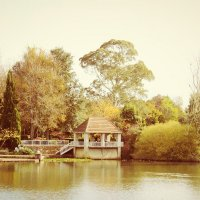 беседка на озере :: Natalya секрет
