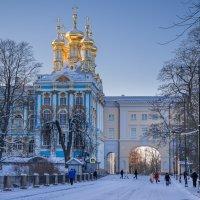 Купола домашнего храма Екатерининского дворца. :: Олег Бабурин