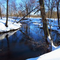 Холодная синева среди укрытых зимой берегов :: Григорий охотник