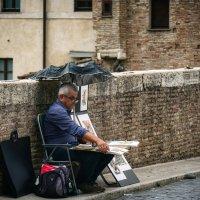 Уличный художник. Рим. Италия. :: Олег Кузовлев