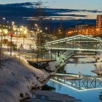 Ухта весенняя, пока снежная, но снег в этом году тает поразительно интенсивно) :: Николай Зиновьев