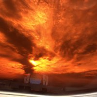 Закат через кабинный светофильтр. :: Alexey YakovLev