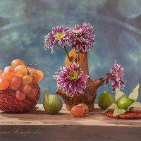 Весёлый натюрморт- цветущий пенёчек! :: Лилия *