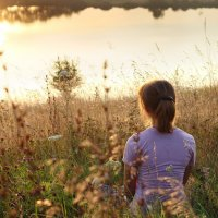 Закат на озере :: Alexandr Grishin