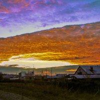 Закат над Минусинском :: юрий Амосов