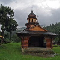The Church in time of raining :: Roman Ilnytskyi