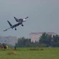 Су-30СМ заход на посадку над фотографами :: Дмитрий Бубер