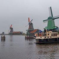 Пасмурным утром...Ветряные мельницы ЗААНСЕ-СХАНС... Нидерланды! :: Александр Вивчарик
