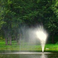 Фонтан на озере :: Сергей Карачин