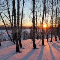 Закат на снегу. :: Наталья Юрова