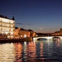 ночной вид на реку :: nadia sergeeva
