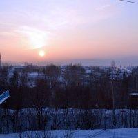Закатное солнышко над Большим Кезом в Удмуртии :: Борис Русаков