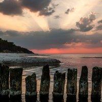 Zachód słońca na plaży :: Janusz Wrzesień