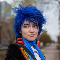 Девочка с голубыми волосами :: Nn semonov_nn