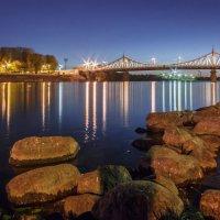 Тверь_Волга_вид на Старый мост_закат 01 :: Виктор Готлиб