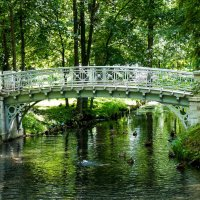 Мост в парке.Гатчина. :: Александр Лейкум