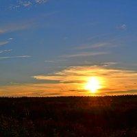 Летний закат над осенним полем. :: Татьяна Чапкович