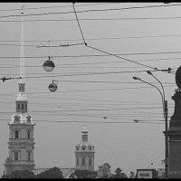 Вид на шпиль Петропавловки и памятник Суворову :: vadim
