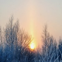 Восход зимой :: Александр Сергеев