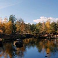Осенний парк, Желтеют листья, Вновь шелестят они чуть слышно... :: Надежда