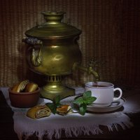 Чай с плюшками :: Ирина Елагина