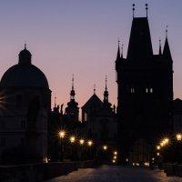 Рассвет на Карловом мосту :: Nina A