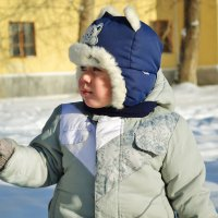 c сыном зимой :: Елена Ресчикова