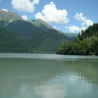На озере Рица (этюд 1) :: Константин Жирнов
