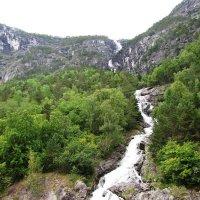 Водопад на фьорде :: Ольга Иргит