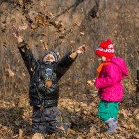 Осень...листья...детки... :: Виталий Левшов