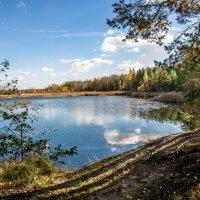 Осень на озере :: Евгений Булин