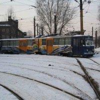 1 трамвайный парк (13.02.2006) :: Владимир Варивода