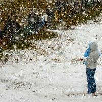 Первый в жизни снегопад. :: юрий Амосов