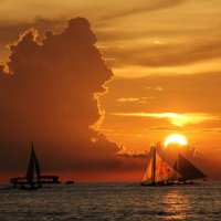 Boracay sunset :: Eva Langue