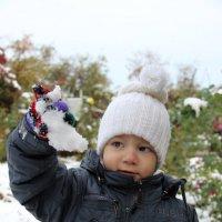 Первый осознанный снег для Ника :: Татьяна Гулевич-Хациева