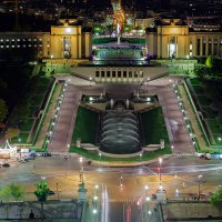 Ночной Париж с Эйфелевой башни :: Ростислав Бычков