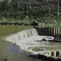 маленький водопад в парке :: елена брюханова